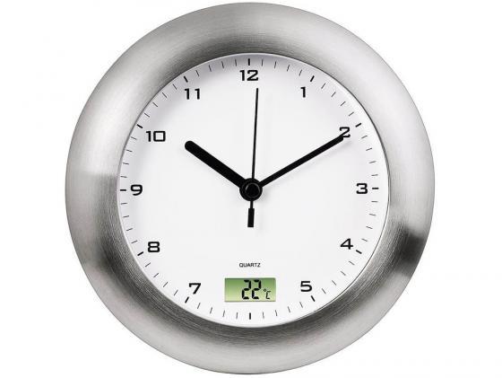 Часы Hama H-113914 Bathroom настенные аналоговые цифровой термометр защита от влаги серебряный термометр hama h 123143 т 350