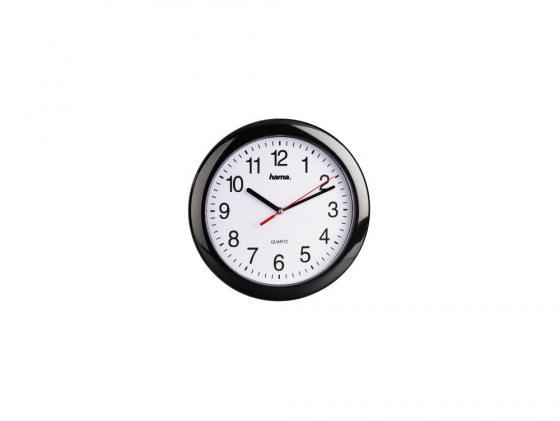 Часы Hama H-113920 PP-250 настенные аналоговые пластик черный настенные часы hama bathroom h 113914 аналоговые серебристый