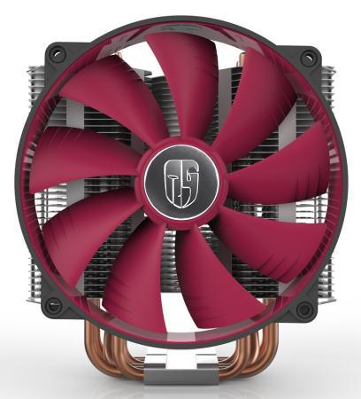 Кулер для процессора Deepcool REDHAT Socket AMD/1150/1155/1156/2011/ 4pin 12-31dB Al+Cu 250W 1079g винты ultra-silent Retail вентилятор glacialtech icehut 1150 silent soc 1150 1155 1156 3pin 20db al 82w 390g клипсы oem