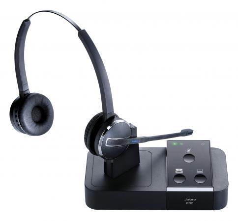 Гарнитура Jabra PRO 9450 Duo DECT USB MS NC WB 9450-29-707-101 телефон dect gigaset l410 устройство громкой связи