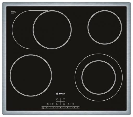 Варочная панель электрическая Bosch PKN645F17R черный дрель электрическая bosch psb 500 re 0603127020 ударная