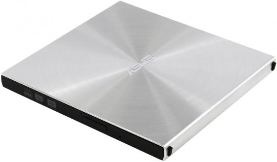 Внешний привод DVD±RW Asus SDRW-08U5S-U/SIL/G/AS USB 2.0 серебристый Retail привод asus sdrw 08u5s u silver
