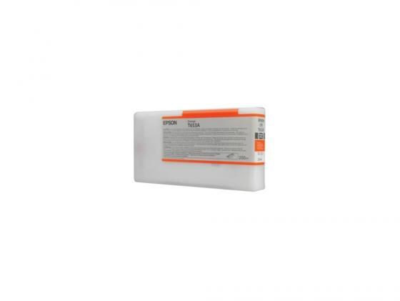Фото - Картридж Epson C13T653A00 для Epson Stylus Pro 4900 оранжевый 200мл гель д бритья satincare radiant apricot 200мл