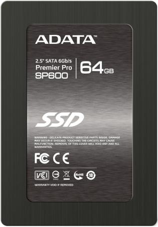 Твердотельный накопитель SSD 2.5 64GB A-Data SP600 Read 360Mb/s Write 130Mb/s SATAIII ASP600S3-64GM-C