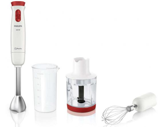 Блендер погружной Philips HR1627/00 650Вт белый погружной блендер philips hr 1605 00 daily collection