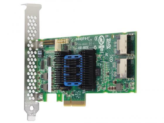 Контроллер SAS Adaptec ASR-6405E PCI-E v2 x1 LP SGL 2270800-R