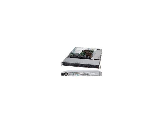 Серверный корпус 1U Supermicro CSE-815TQ-600WB 600 Вт чёрный цены