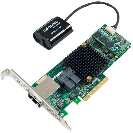 Контроллер Adaptec ASR-8885Q PCI-E SGL 2277100-R контроллер sas sata adaptec asr 81605zq pci e x8 lp sgl