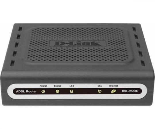 Маршрутизатор D-Link DSL-2500U/BA/D4A/D4B/D4C ADSL/ADSL2/ADSL2+ (Annex A) Router 1 ADSL/ADSL2/ADSL2+ port 1 10/100Base-TX LAN port