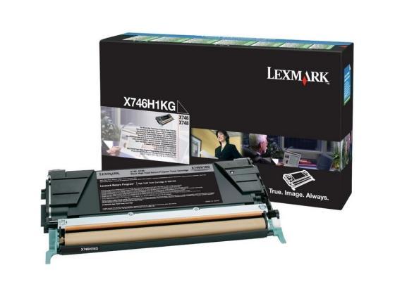 Картридж Lexmark X746H1KG для X746/X748 черный 12000стр картридж lexmark x746h1kg