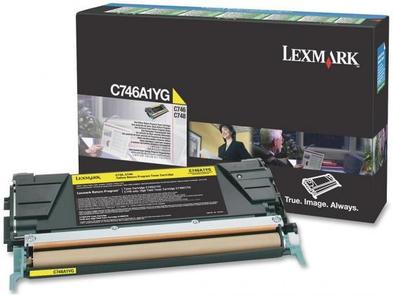 Тонер-Картридж Lexmark C746A1YG для C746/C748 желтый 7000стр тонер картридж lexmark c950x2kg black для c950