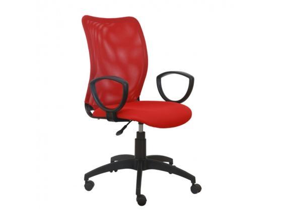 Кресло Buro CH-599/R/TW-97N спинка сетка красный TW-35N сиденье красный TW-97N кресло руководителя бюрократ kb 9 на колесиках сетка красный [kb 9 r tw 97n]