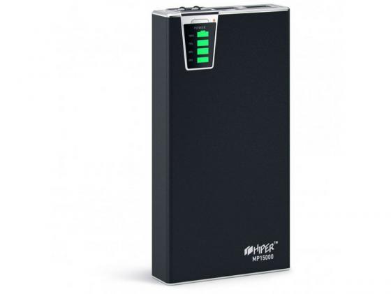 Фото - Портативное зарядное устройство Hiper Power MP15000 15000мАч 2xUSB 2.1/1А картридер SD фонарик портативное зарядное устройство powerocks tetris 2xusb 3000mah белый