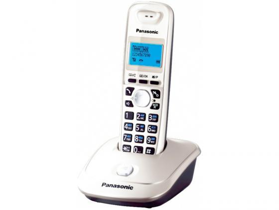 Радиотелефон DECT Panasonic KX-TG2511RUW белый радиотелефон dect panasonic kx tg2511ruw белый