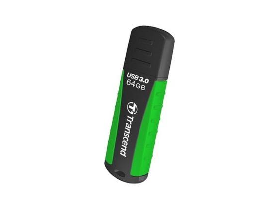 Флешка USB 64Gb Transcend Jetflash 810 TS64GJF810 черный/зеленый флешка transcend jetflash v85 16gb
