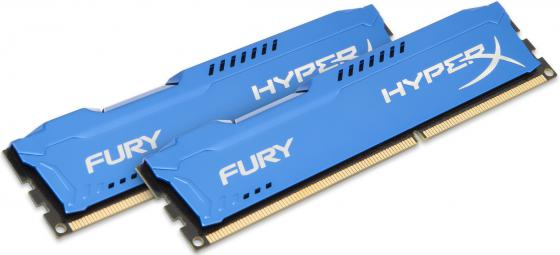 Оперативная память 16Gb (2x8Gb) PC3-12800 1600MHz DDR3 DIMM CL10 Kingston HX316C10FK2/16 HyperX FURY Blue Series original kingston hyperx hx424c15fb 16 16gb memory bank