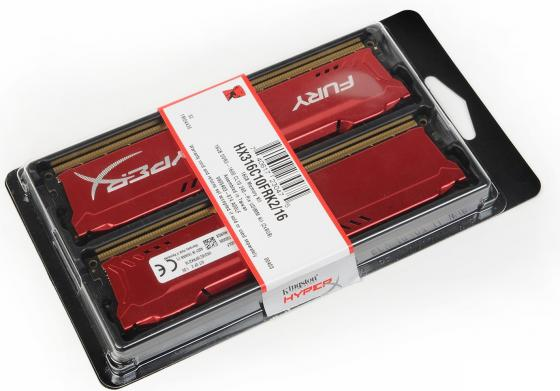 Оперативная память 16Gb (2x8Gb) PC3-12800 1600MHz DDR3 DIMM CL10 Kingston HX316C10FRK2/16 серверная память kingston kvr21r15d4 16 16gb