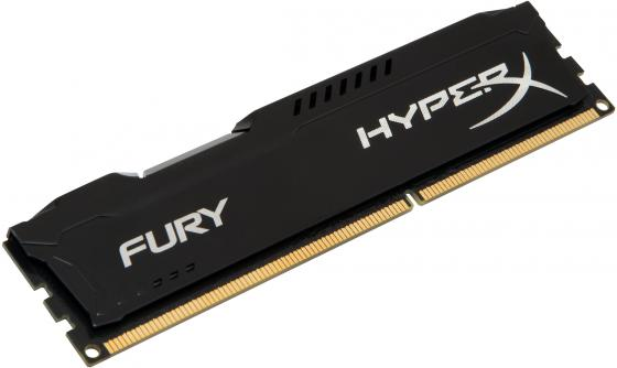 Оперативная память 4Gb PC3-12800 1600MHz DDR3 DIMM CL10 HyperX FURY Black Kingston HX316C10FB/4
