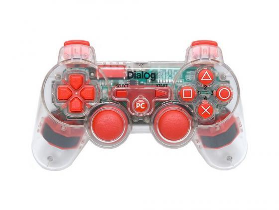 Геймпад Dialog Action GP-A17EL вибрация красный подсветка USB dialog action gp a11 черный геймпад вибрация 12 кнопок usb