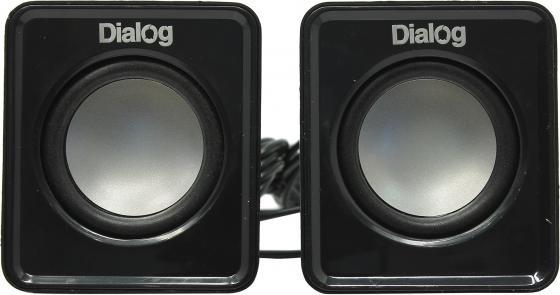 Колонки Dialog Colibri AC-02UP 6W USB черный компьютерная акустика dialog ac 01up ac 01up black