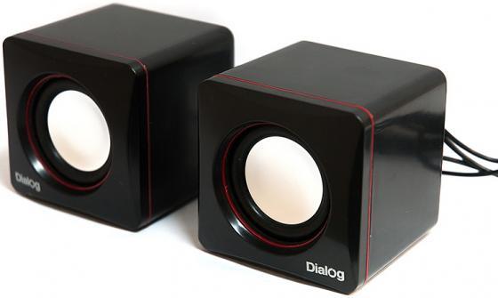 Колонки Dialog Colibri AC-04UP 6W USB черно-красный