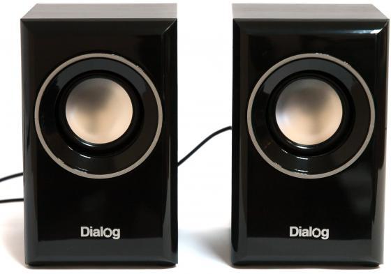 Колонки Dialog Stride AST-15UP 6W USB черный колонки dialog stride ast 20up 6w usb черный