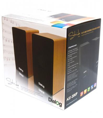 цена на Колонки Dialog Stride AST-20UP 6W USB ореховый