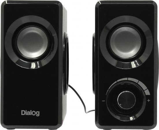 Колонки Dialog Stride AST-25UP 6W USB черный колонки dialog disco ad 07 2x12вт вишневый