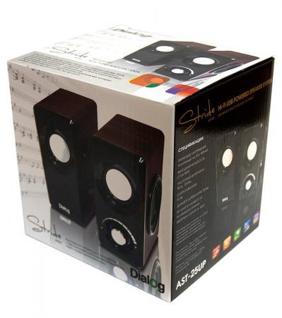 Колонки Dialog Stride AST-25UP 6W USB вишневый колонки dialog disco ad 07 2x12вт вишневый