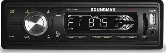 Автомагнитола Soundmax SM-CCR3048F бездисковая USB MP3 FM RDS SD MMC 1DIN 4x45Вт черный car digital hd lcd screen mp5 player car headrest monitor touch button remote with control usb sd fm transmitter