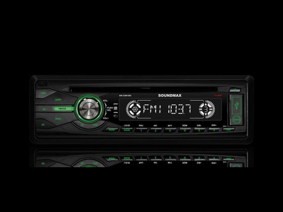 Автомагнитола Soundmax SM-CDM1065 CD USB MP3 FM RDS SD MMC 1DIN 4x45Вт черный