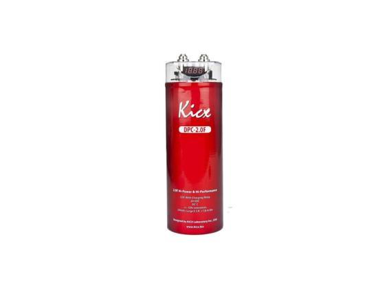 Конденсатор Kicx DPC 2,0F с вольтметром емкостью 2Ф kicx qs 300b