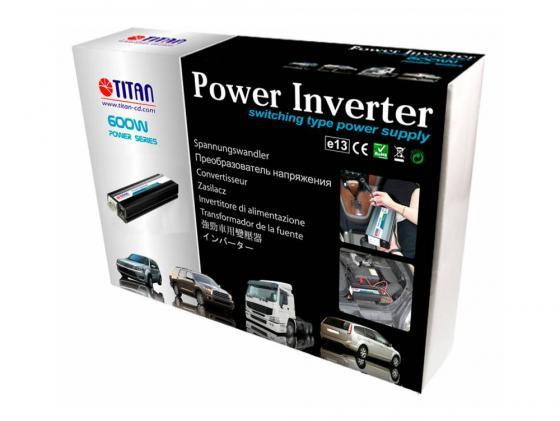 цена на Автомобильный инвертор напряжения Titan HW-600E6 600Вт