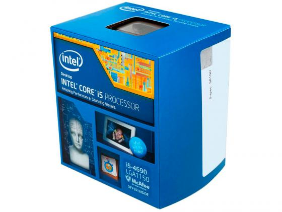 Процессор Intel Core i5-4690 3.5GHz 6Mb Socket 1150 BOX процессор intel core i5 4690k 3 5ghz 6mb socket 1150 box
