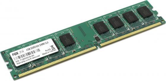 Оперативная память 4Gb PC2-6400 800MHz DDR2 DIMM Foxline FL800D2U6-4G FL800D2U5-4G CL6 оперативная память foxline fl1600d3u11s2 2g