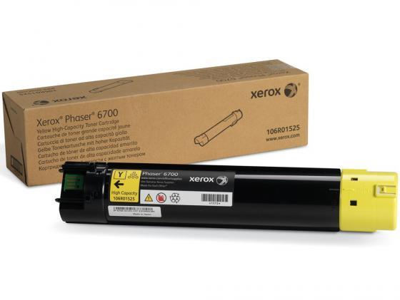 Тонер-картридж Xerox 106R01525 для PH 6700 N желтый 12000стр цена