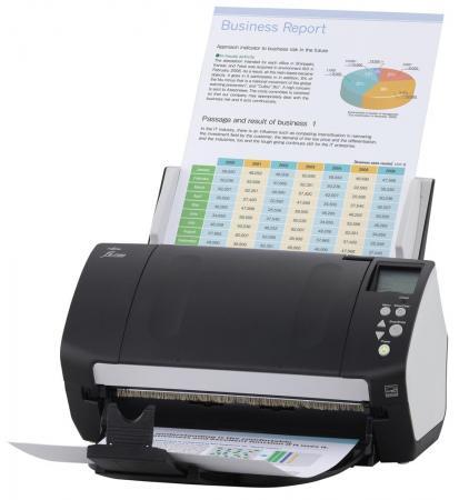 Сканер Fujitsu-Siemens fi-7160 протяжный A4 600x600 dpi CCD 60ppm duplex черный PA03670-B051 цена
