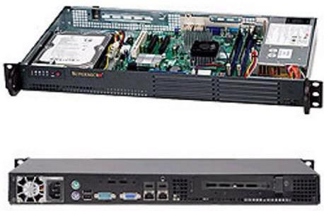 Серверный корпус 1U Supermicro CSE-502L-200B 200 Вт чёрный цена
