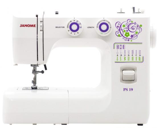 Швейная машина Janome PS-19 белый цена и фото