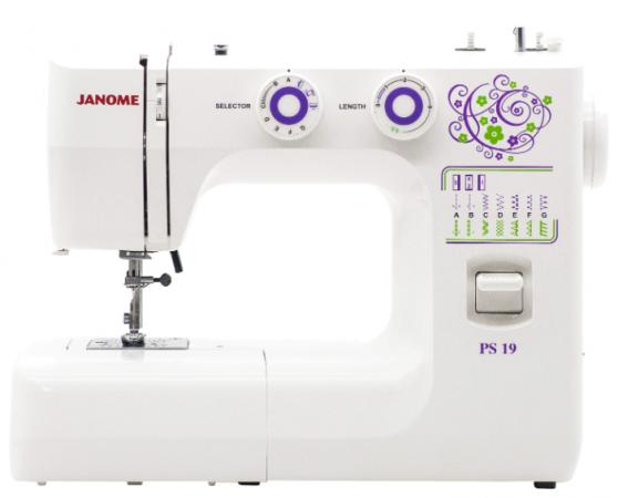 Швейная машина Janome PS-19 белый швейная машина janome my style 280s белый [280ms]