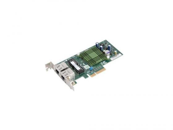 цена Сетевой адаптер SuperMicro AOC-SG-I2 10/100/1000 Мбит/c PCI-E 2xRJ-45