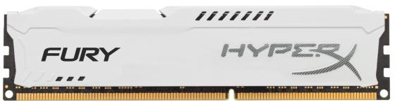 Оперативная память 8Gb PC3-15000 1866MHz DDR3 DIMM CL10 Kingston HyperX Fury White Series HX318C10FW/8 оперативная память 4gb pc3 14900 1866mhz ddr3 dimm cl10 kingston hx318c10f 4 hyperx fury blue series
