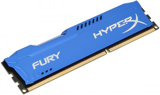 Оперативная память 4Gb PC3-14900 1866MHz DDR3 DIMM CL10 Kingston HX318C10F/4 HyperX FURY Blue Series память ddr3 dell 370 abgj 8gb rdimm reg 1866mhz