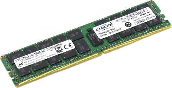 Оперативная память 16Gb (1x16Gb) PC4-17000 2133MHz DDR4 DIMM ECC Buffered CL15 Crucial CT16G4RFD4213 память ddr4 hpe 726719 b21 16gb dimm ecc reg pc4 17000 cl15 2133mhz