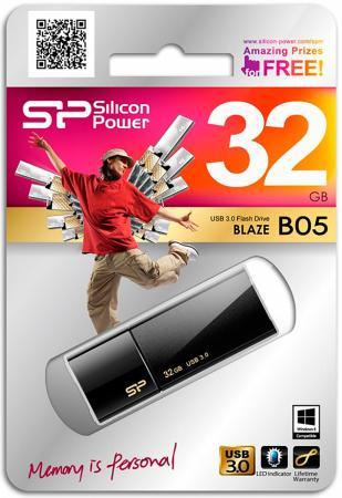Фото - Флешка USB 32Gb Silicon Power Blaze B05 SP032GBUF3B05V1K черный флешка silicon power blaze b05 8 gb синий