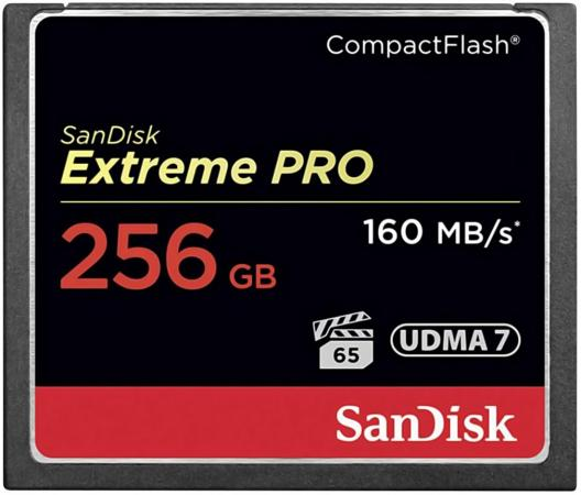 Карта памяти Compact Flash Card 256Gb SanDisk VPG 65 UDMA 7 SDCFXPS-256G-X46