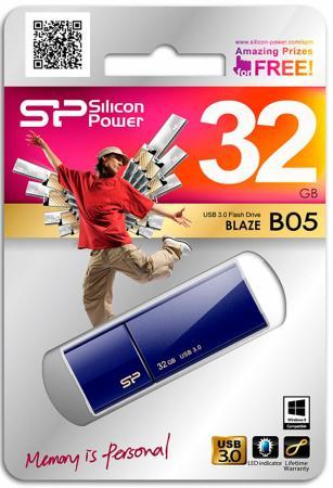 Фото - Флешка USB 32Gb Silicon Power Blaze B05 SP032GBUF3B05V1D синий флешка silicon power blaze b05 8 gb синий