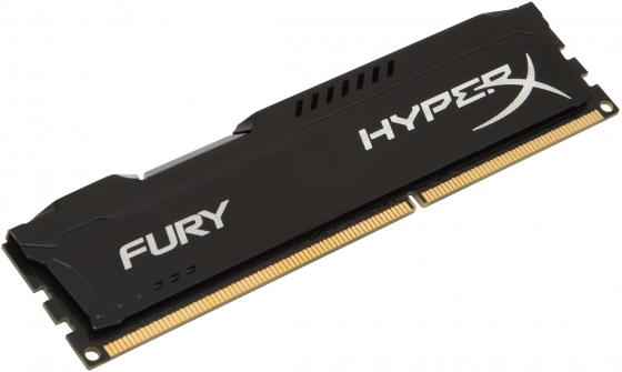 Оперативная память 8Gb PC3-15000 1866MHz DDR3 DIMM CL10 Kingston HX318C10FB/8 HyperX FURY Black Series оперативная память kingston hyperx fury 8gb ddr4 dimm 2133mhz pc17000 black hx421c14fb2 8