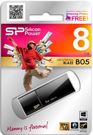 Фото - Флешка USB 8Gb Silicon Power Blaze B05 SP008GBUF3B05V1K черный флешка silicon power blaze b05 8 gb синий