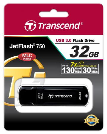 Флешка USB 32Gb Transcend Jetflash 750 USB3.0 TS32GJF750K черный флешка transcend jetflash jf300 32gb